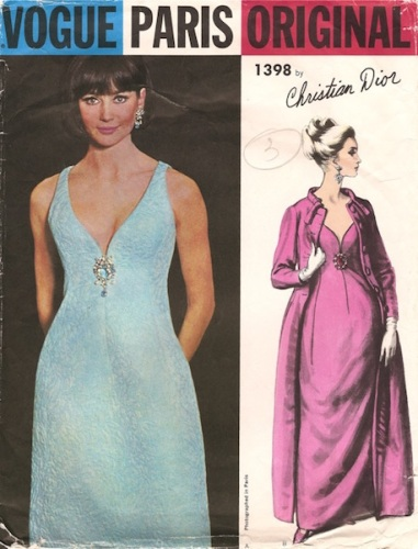 Christian Dior evening dress and opera coat pattern - Vogue 1398