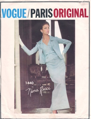 Nina Ricci evening dress and jacket pattern - Vogue 1440
