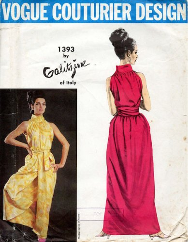 1960s Galitzine halter and culotte pattern - Vogue 1393