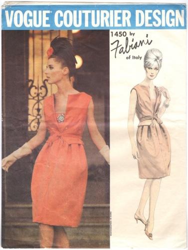 1960s Fabiani short evening dress pattern - Vogue 1450