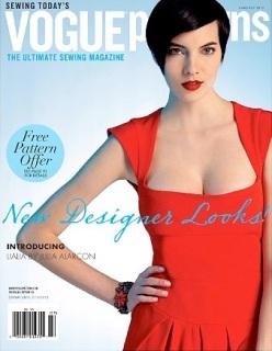 Lialia cover Vogue Patterns magazine, June/July 2012
