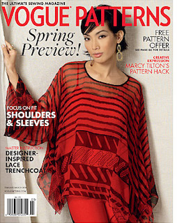 Vogue Patterns magazine, Feb/Mar 2016 (Zandra Rhodes cover)