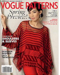 Vogue Patterns magazine, Feb/Mar 2016 (Zandra Rhodes cover)