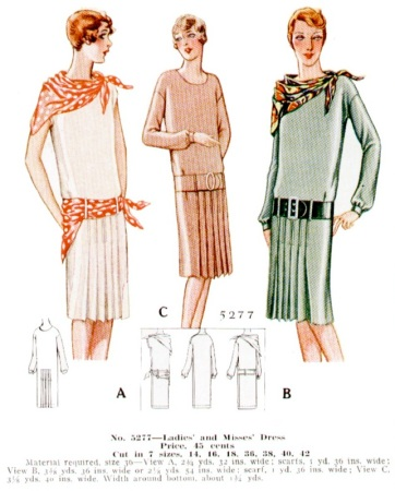 McCall 5277 1920s tennis dress McCall's catalogue illustration