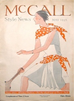 art deco tennis illustration McCall Style News May 1928