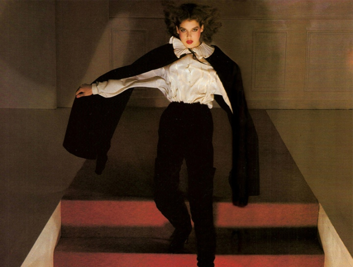 Gianni Versace for Complice campaign photographed by Guy Bourdin, Vogue Paris, August 1977
