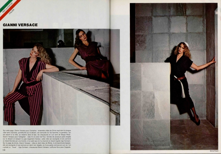 Gianni Versace for Complice / Gianni Versace for Callaghan; Gianni Versace. Editorial, Spring 1979