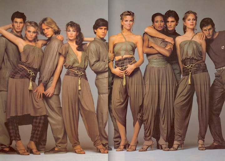 Versace Spring 1981 Models Kim Alexis, Kelly LeBrock, Lisa Taylor, Beverly Johnson, and Rosie Vela photographed by Richard Avedon..