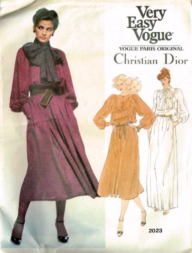 Gia Carangi models Vogue 2023, a 1970s pattern by Christian Dior