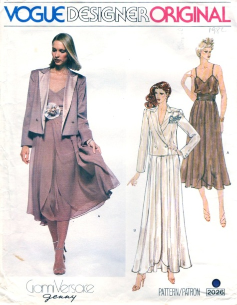 1970s Gianni Versace for Genny evening suit pattern Vogue 2026