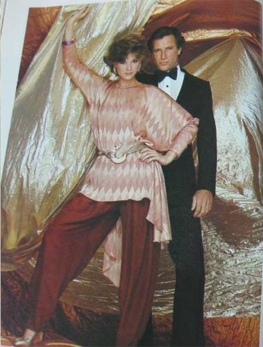 Vogue 2702 tunic and pants by Gianni Versace photographed for Vogue Patterns magazine, November-December 1981