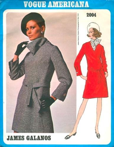 Maud Adams models Vogue 2004 by James Galanos