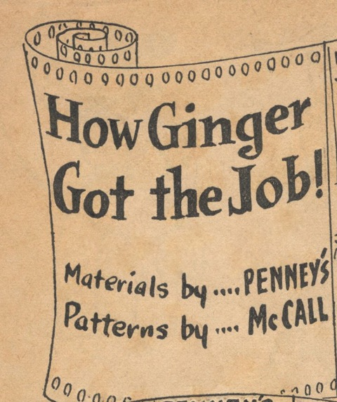 How Ginger Got the Job! movie-style advertising comic title frame