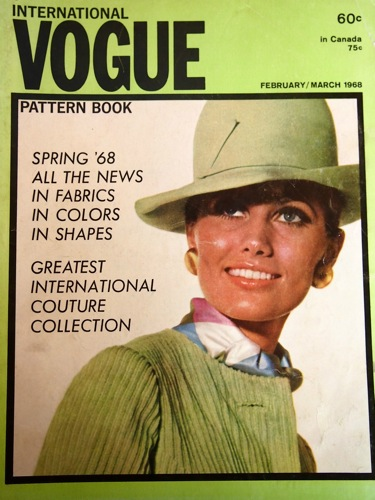 Maud Adams on the cover of Vogue Pattern Book, Feb/Mar 1968