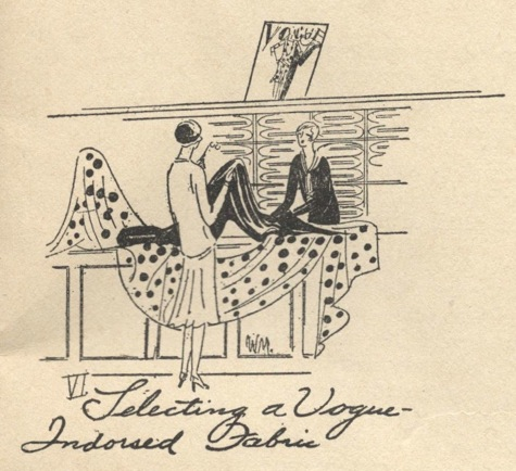 VI. Selecting a Vogue-Indorsed Fabric - Vogue's Book of Practical Dressmaking, 1926