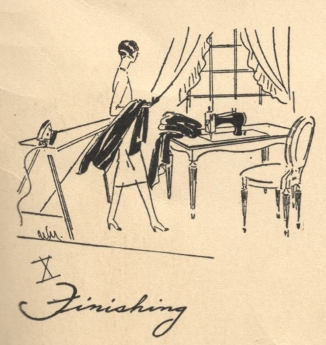 X. Finishing - Vogue's Book of Practical Dressmaking, 1926