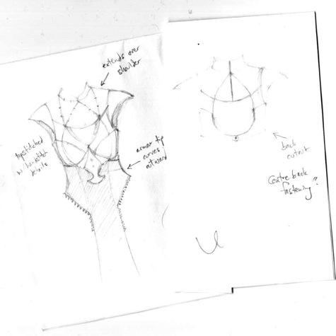 Daenerys costume sketch