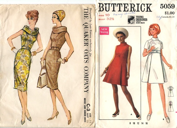 McCall's C-3 and Butterick 5059