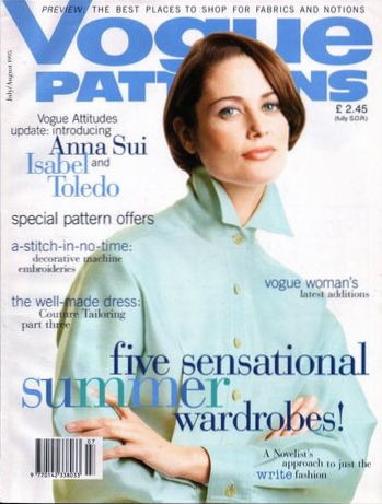 Isabel Toledo blouse on the cover of Vogue Patterns, July/August 1995