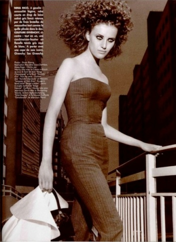 Givenchy bustier jumpsuit by John Galliano in L'Officiel no. 807, August 1996.