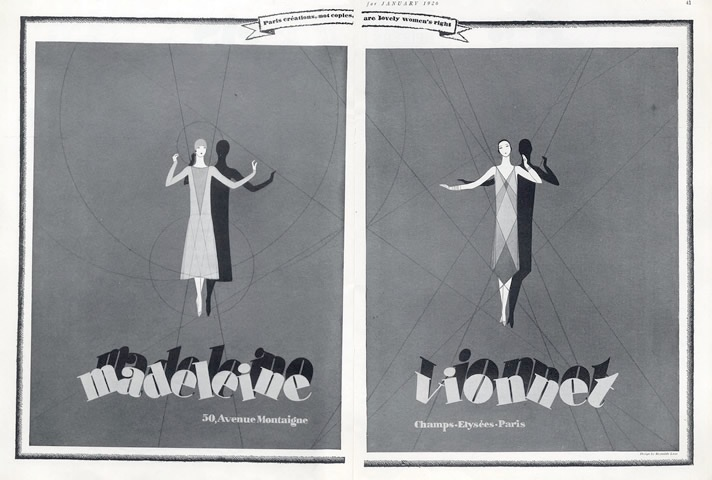 Reynaldo Luza Vionnet advertisement, 1926