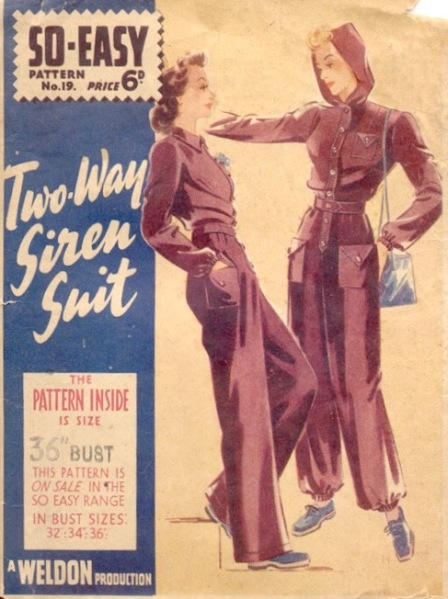 1940s English siren suit pattern - Weldons So-Easy 19