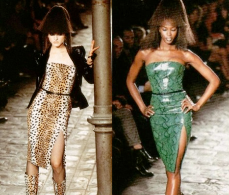 leopard / green python - Givenchy FW 1997 rtw by Alexander McQueen