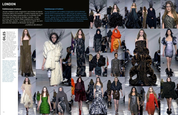 London: Giles FW 2007 rtw in L'Officiel 1000 modeles no. 74