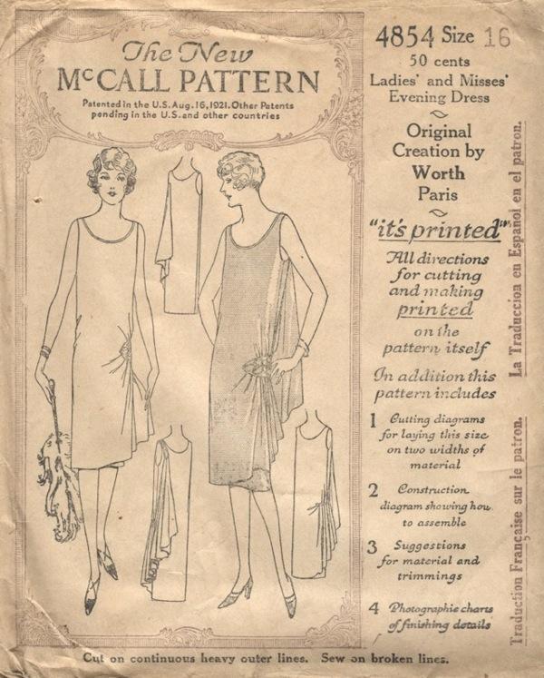 Free pattern 1920s dress styles