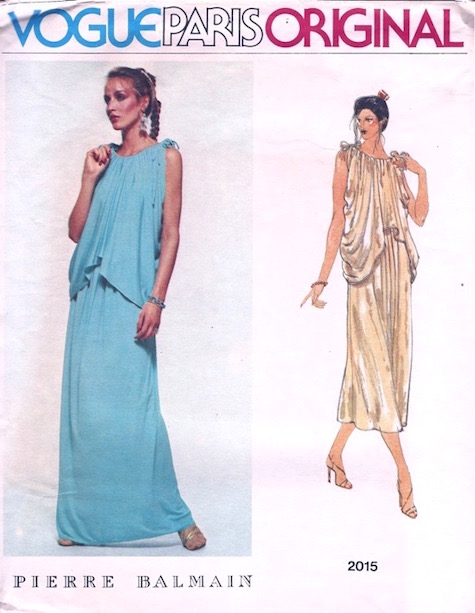 1970s Pierre Balmain evening dress and cape pattern - Vogue 2015
