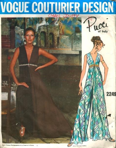 1960s Pucci loungewear pattern - Vogue 2249