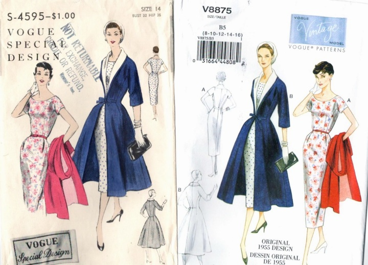 Vintage Vogue patterns, old and new