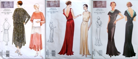 Vintage Vogue 2535 (1928), Vogue 2241 (1931), Vogue 2609 (1934)