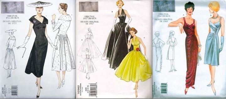 Vogue 2536 (1955), Vogue 2962 (1957), Vogue 2372 (1960)