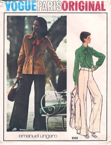 1970s Emanuel Ungaro pattern featuring Beverly Johnson, Vogue 1010