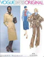 Beverly Johnson wears Vogue Paris Original 1570, a trench coat by Pierre Balmain