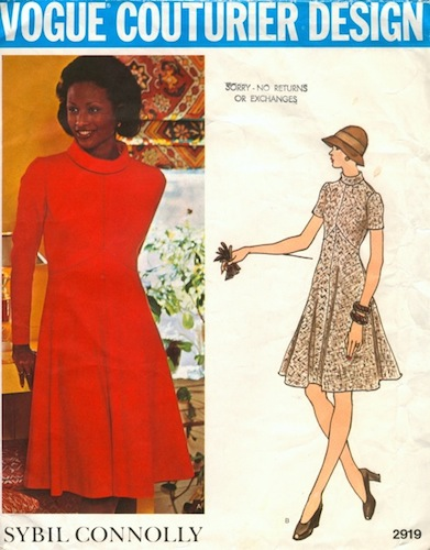 1970s Sybil Connolly pattern featuring Beverly Johnson, Vogue 2919