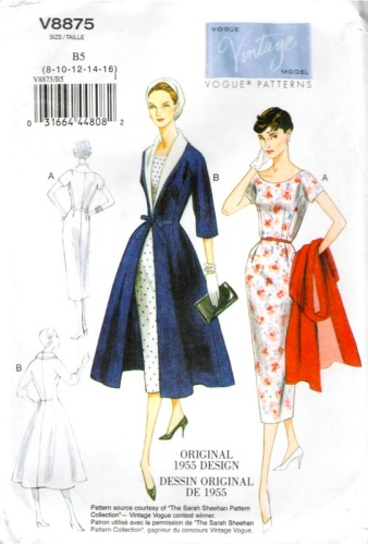 1950s Pussy Bow Blouse-Vintage francese Sewing Pattern