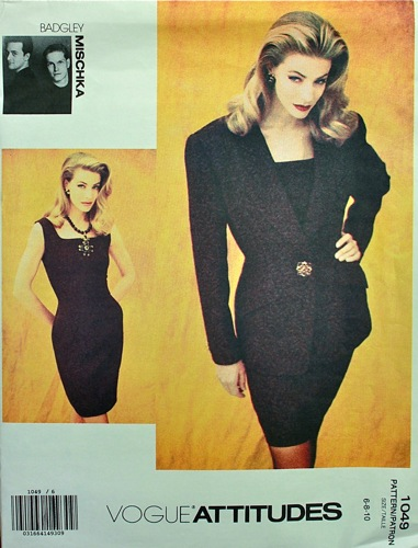 early 1990s dress and jacket pattern by Badgley Mischka - Vogue 1049