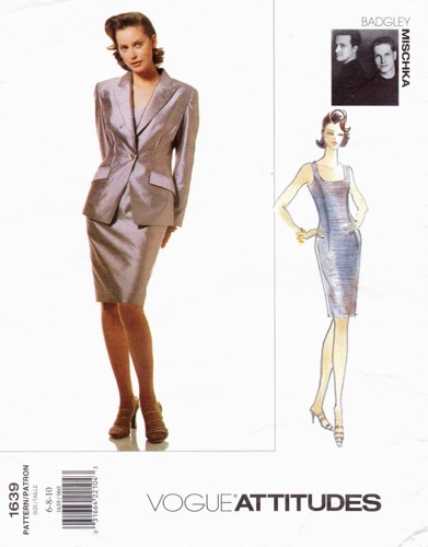 mid-1990s Badgley Mischka jacket and dress pattern - Vogue 1639