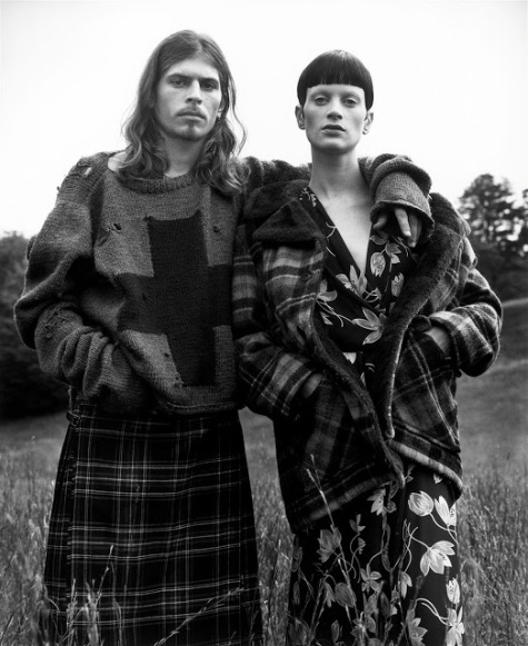 Grunge & Glory Steven Meisel editorial featuring Kristen McMenamy in Perry Ellis by Marc Jacobs, styled by Grace Coddington