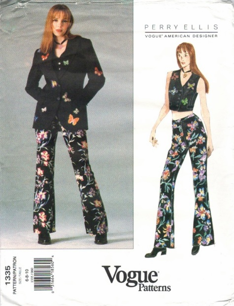 Grunge jacket, vest and pants pattern by Marc Jacobs for Perry Ellis - Vogue 1335