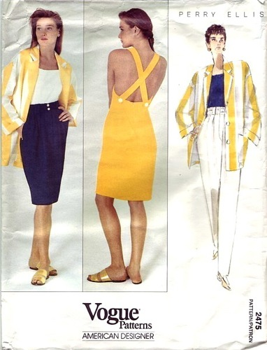 1990s Marc Jacobs for Perry Ellis pattern - Vogue 2475