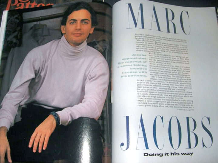 Marc Jacobs in Vogue Patterns magazine, March/April 1990