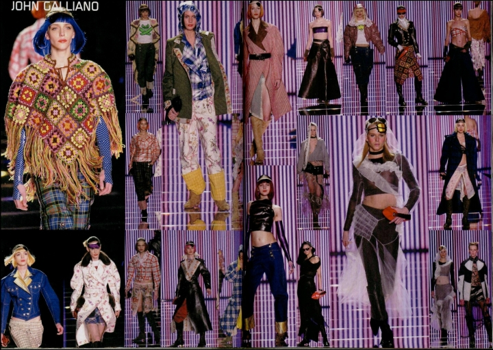 John Galliano Fall/Winter 2001 ready-to-wear - Techno-Romance