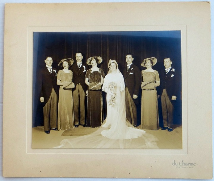 San Francisco estate wedding portrait showing McCall 8331