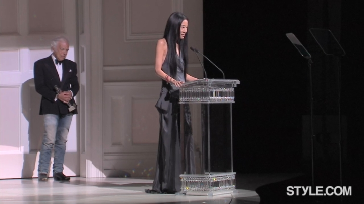 Vera Wang with Ralph Lauren at the CFDA Awards