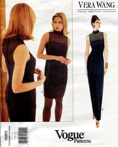 Vera Wang dress pattern - Vogue 1585
