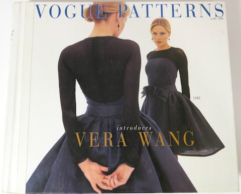 Vogue 1583, a Vera Wang dress pattern, on the cover of the Vogue catalog, June 1995