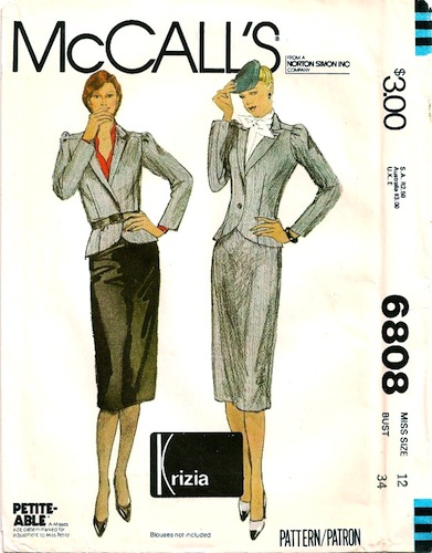 1970s Krizia skirt and jacket pattern - McCall's 6808 - Petite-able